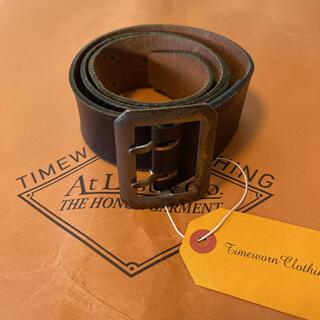テンダーロイン(TENDERLOIN)の希少品! AtLast & Co. ベルト ブラック 黒 レザー 32 M 本革(ベルト)