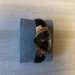 ベンチュラ(VENTURA)の人気品! HAMILTON ベンチュラ H244110 ブラック シルバー 黒銀(腕時計(アナログ))