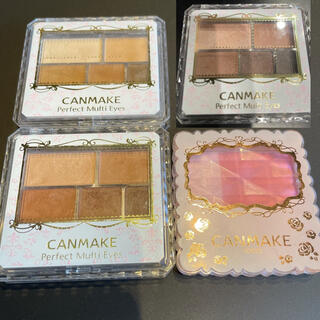 CANMAKE - キャンメイクパーフェクトマルチアイズ 3点 マット&クリスタルチークス02