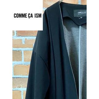 コムサイズム(COMME CA ISM)の【美品】COMMECAISM コムサイズム☆薄手で春先にぴったり黒のコート!(ノーカラージャケット)