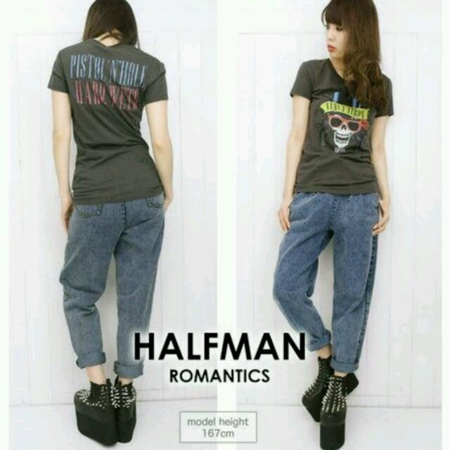 HALFMAN(ハーフマン)の新品半額 スカルプリントTシャツ♡ロックT レディースのトップス(Tシャツ(半袖/袖なし))の商品写真