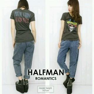 ハーフマン(HALFMAN)の新品半額 スカルプリントTシャツ♡ロックT(Tシャツ(半袖/袖なし))