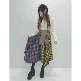 ワンスポ(one spo)のonespo☆ドッキングチェックスカート!(ロングスカート)