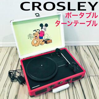 新品 クロスリー CROSLEY ポータブルターンテーブル ディズニー 送料込(ターンテーブル)