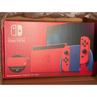 ニンテンドースイッチ(Nintendo Switch)のNintendo Switch マリオレッド×ブルー セット 新品スイッチマリオ(家庭用ゲーム機本体)
