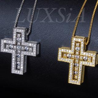 ダブル クロスネックレス 十字架 シルバー925 メンズ ベルエポック好き!(ネックレス)