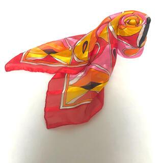 ロキエ(Lochie)の古着 マルチカラー ビタミンカラー 幾何学 ビンテージ スカーフ 8(バンダナ/スカーフ)