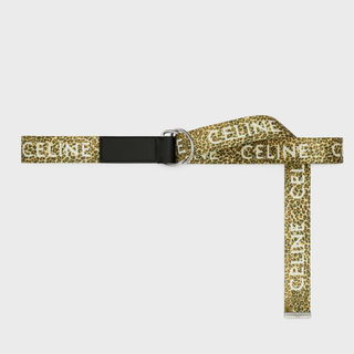 セリーヌ(celine)の新品【 CELINE 】ミディアム レオパード プリント ダブルリングベルト (ベルト)