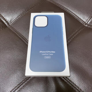 Apple - iPhone12ProMAX 純正レザーケース バルティックブルー