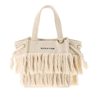 ALEXIA STAM - アリシアスタン  Square Fringe Small Tote Bag