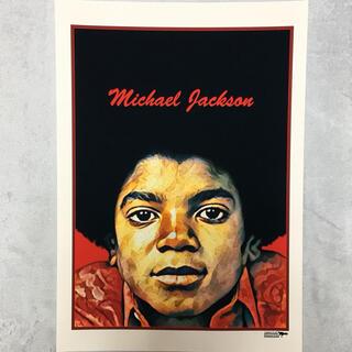 SALL‼️大型A3サイズ送料込ポップアート「マイケル ジャクソン」レッド(アート/写真)