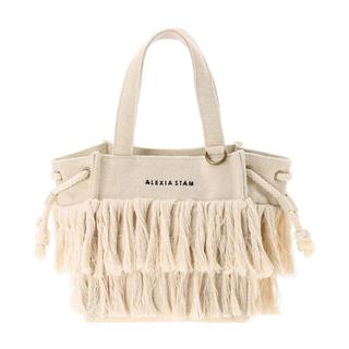 ALEXIA STAM - Square Fringe Small Tote Bag Ivory