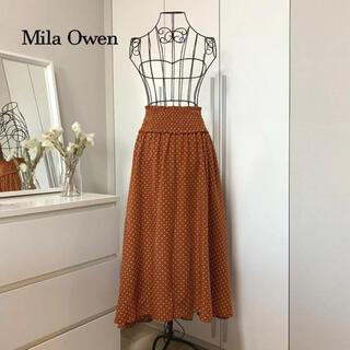 ミラオーウェン(Mila Owen)の【美品】ミラオーウェン ドットスカート(ひざ丈スカート)