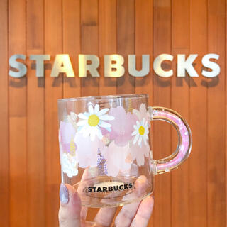 Starbucks Coffee - スターバックス 2021 耐熱グラスマグ マグカップ さくら サクラ 花柄