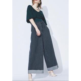 ラベルエチュード(la belle Etude)のwide denim pants 𓍯(カジュアルパンツ)