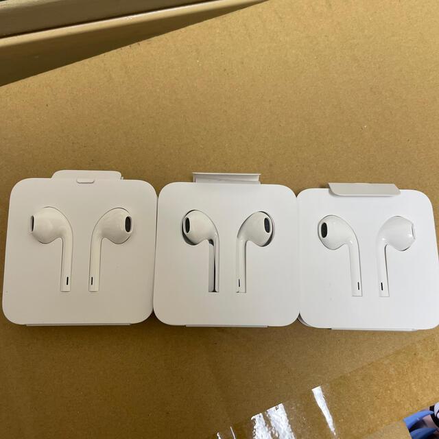 iPhone(アイフォーン)のiPhoneイヤホン純正 3つセット スマホ/家電/カメラのオーディオ機器(ヘッドフォン/イヤフォン)の商品写真