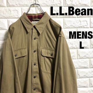 エルエルビーン(L.L.Bean)のL.L.Bean  エルエルビーン 肉厚長袖シャツ メンズLサイズ(シャツ)