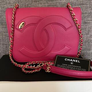 CHANEL - 正規品 極美品 CHANEL デカココ         ショルダーバッグ ピンク