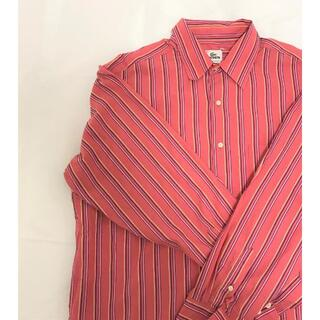 ラコステ(LACOSTE)のメンズシャツ 春物 ラコステ ピンクストライプ オーバーサイズ わに(シャツ)