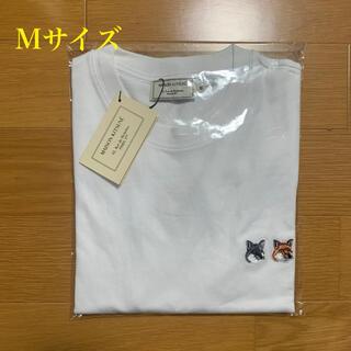 MAISON KITSUNE' - メゾンキツネ ダブルフォックスヘッドパッチ Tシャツ 白 Mサイズ