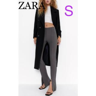 ZARA - ZARA ザラ リブフレアレギンス センタースリット パンツ S