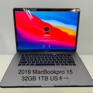 Apple - MacBook Pro 15in Core i9 1TB 2019 USキー新古
