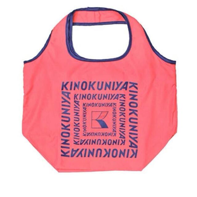 紀ノ国屋 コンパクトバッグ(ローズ×ネイビー) レディースのバッグ(エコバッグ)の商品写真