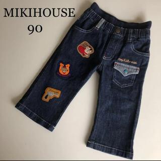 mikihouse - ミキハウス デニム ハーフ パンツ 90 カウボーイ 春 夏 ファミリア