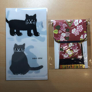 ソウソウ(SOU・SOU)のsou sou 猫のマスクケースと紙雛(その他)
