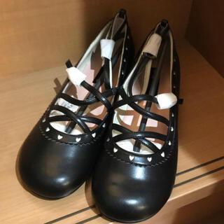 イノセントワールド(Innocent World)のストラップシューズ ブラック(ローファー/革靴)
