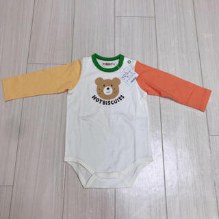 HOT BISCUITS - 新品 ミキハウス ホットビスケッツ 男の子 ロンパース 春 長袖 80
