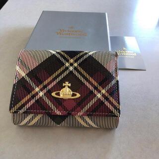 Vivienne Westwood - ヴィヴィアンウエストウッド チェック柄 三つ折り財布  未使用