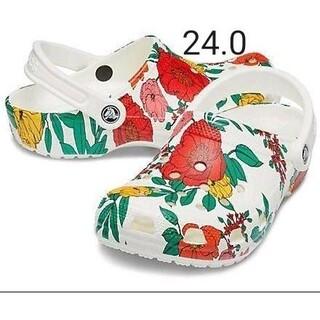 crocs - 24cm クロックス 新品 フローラル