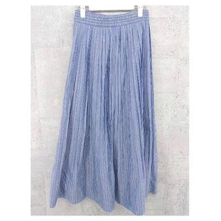 Mila Owen - 新品未使用❗️ミラ オーウェン ロングスカート  ブルー ストライプ柄