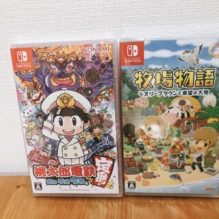 Nintendo Switch - 【新品未開封、おまけ付き】桃太郎電鉄+牧場物語 スイッチソフト2個セット