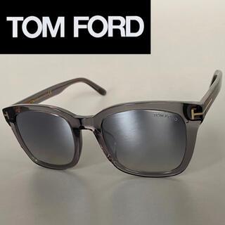 TOM FORD - トムフォード グレー スモーク ミラー サングラス ウェリントン FT 大きめ