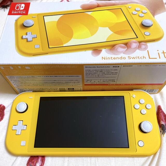 Nintendo Switch(ニンテンドースイッチ)の美品☆Nintendo Switch Lite イエロー 本体 スイッチ ライト エンタメ/ホビーのゲームソフト/ゲーム機本体(家庭用ゲーム機本体)の商品写真