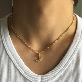 ゴールド クリスタル ムーンネックレス 40cm ガガミラノ 好きに