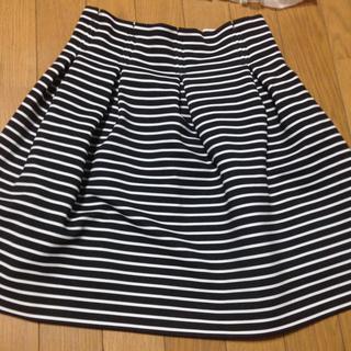 マーキュリーデュオ(MERCURYDUO)のマーキュリーのボーダースカート(ミニスカート)