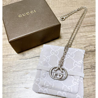 Gucci - GUCCI シルバーロゴネックレス