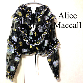 アリスマッコール(alice McCALL)の極美品  Alice Mccall Adorable sheer blouse(シャツ/ブラウス(長袖/七分))