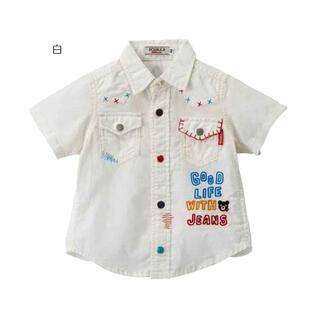DOUBLE.B - ダブルB☆120cm 新品 ウエスタン風半袖シャツ