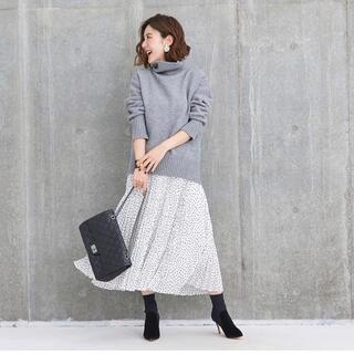 Drawer - 新品タグ付き obli ドットプリーツスカート オブリ ワンピース