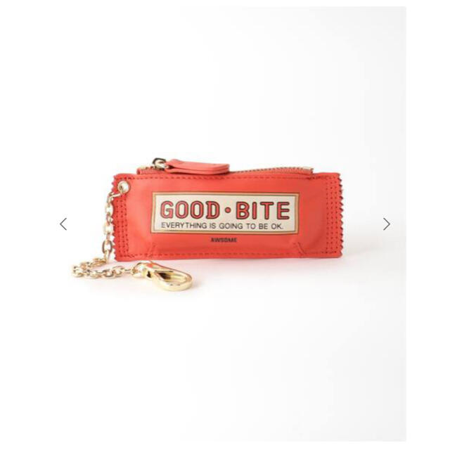 DEUXIEME CLASSE(ドゥーズィエムクラス)のGOOD GRIEF  GOOD BITE MINI CASE  レッド レディースのファッション小物(キーホルダー)の商品写真