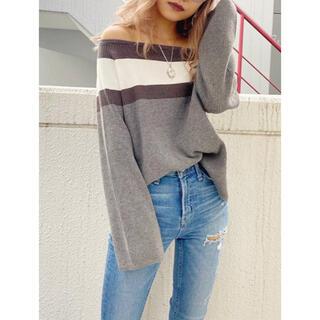 GYDA - GYDA off shoulder line knit