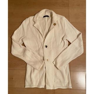 Cruciani - LARDINI ラルディーニ ニットジャケット XS ホワイト 汚れあり