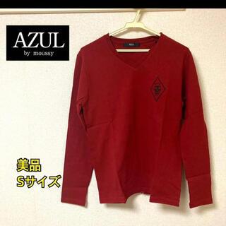 アズールバイマウジー(AZUL by moussy)のAZUL 赤Tシャツ 長袖(Tシャツ/カットソー(七分/長袖))