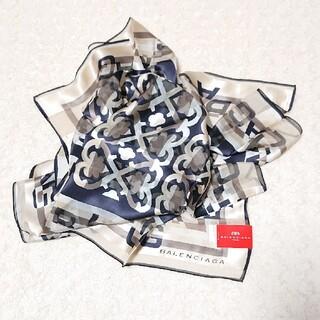 Balenciaga - 《未使用》BALENCIAGA 88㎝×88㎝ シルク100% スカーフ