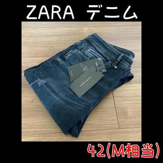 ZARA - ZARA ザラ ダメージデニム スキニーパンツ ジーンズ 黒 春 パンツ M