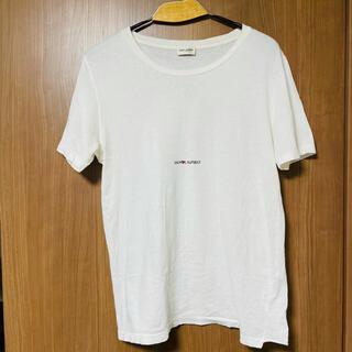 Saint Laurent - SAINT LAURENT PARIS フロントロゴ半袖Tシャツ ホワイト